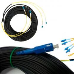 Внешний оптический патч-корд 2 волокна 25м. Длинный оптический шнур кабель с концами FC, SC, LC, ST