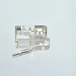Коннектор телефонный RJ12, 6p4c.