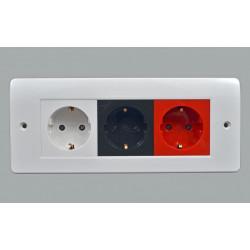 Рамка MK Electric для установки 3 модулей 50х50, 206x86 мм, белая