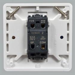 Выключатель MK Electric Logic Plus 1-клавишный, 86x86мм