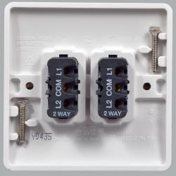 Выключатель MK Electric Logic Plus 2-клавишный, 86x86мм