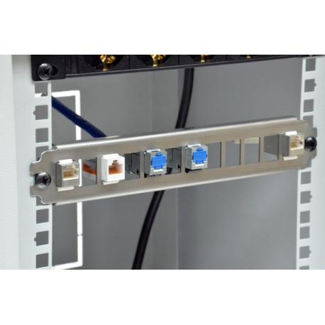 """Патч-панель 10"""" под 12 модулей Keystone, 1U"""