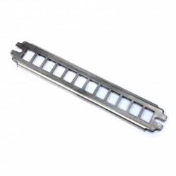 """Подробнее оПатч панель 10 """", 1U, для 12 модулей KeyStone (slim), 2 точки крепления, нержавеющая сталь"""