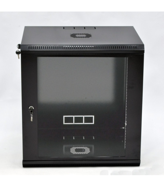 CMS Шкаф настенный 12U эконом, 600x600x640 мм, черный