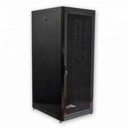 Серверный шкаф перфорация 42U, 800х1055 мм, усиленный, чёрный