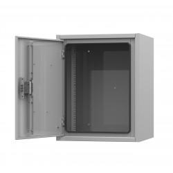 Подробнее оIP54-12U 650х400х680 антивандальный уличный шкаф