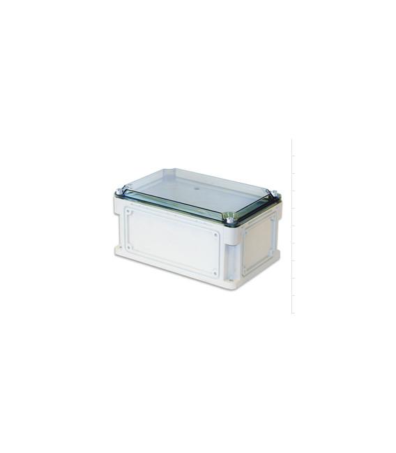 Бокс пластиковый уличный IP 67 600х300х146 мм прозрачная крышка