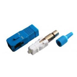 Коннектор оптический (собранный) SC simplex SM (PC), 0,9мм