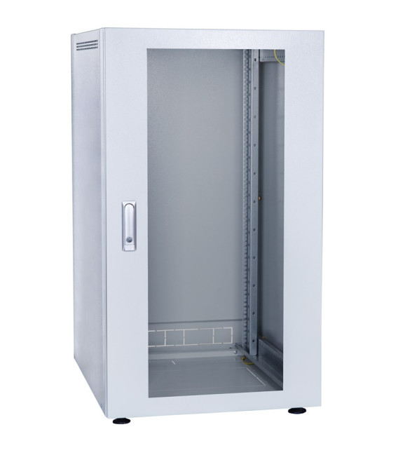 Шкаф напольный 18U 600x600 Дверь стекло