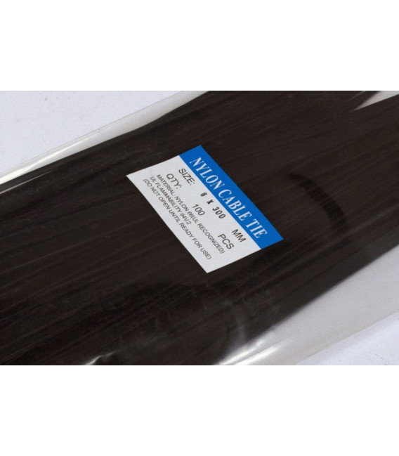 Стяжки 300 х8.0 мм, черная, 100 шт., Украина