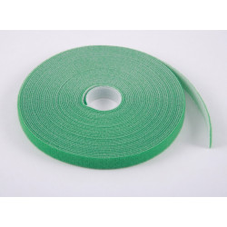 Стяжка-липучка, 12 мм x 10 м, моток, зеленая, EPNew