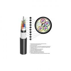 Кабель оптический ОБгПО 2,7кН 8 волокон с жилами питания ОБгПо-8А6(2х4+2)-2,7