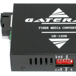 Медиаконвертер 100Мбит, SC 20км, передача 1310, приём 1550, Gateray GR-120A LFP