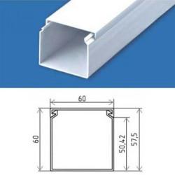 Короб для кабеля 60×60 пластиковый кабельканал