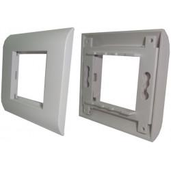 Корпус для внутрeнней розетки 80х80 без вставки FPN-FTМ-80