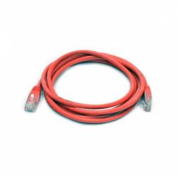 Патч-корд красный UTP cat5e 1m, медь
