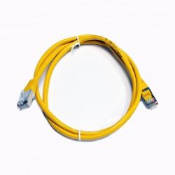 Патч-корд желтый 1м медный FTP кат5e