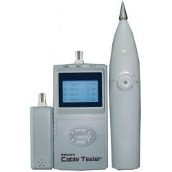 Тестер для сетей с генератором тона RJ-45, BNC, LCD дисплей