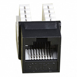 Модуль KeyStone RJ45 UTP,кат.6, 110, Slim, W-16,6мм,черный.