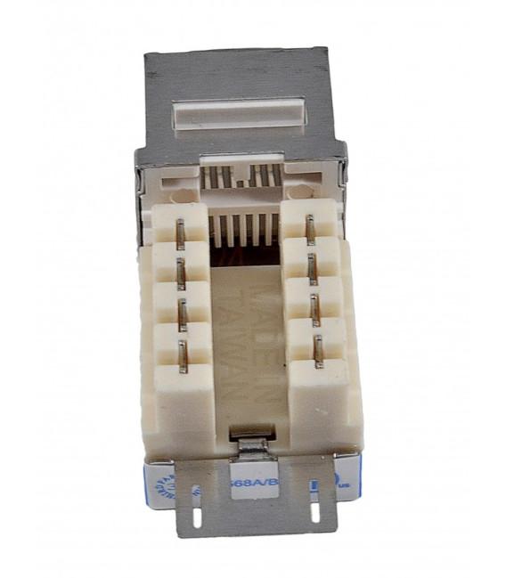 Модуль KeyStone RJ45 FTP, кат. 6, 110, Slim, W - 17.3 мм